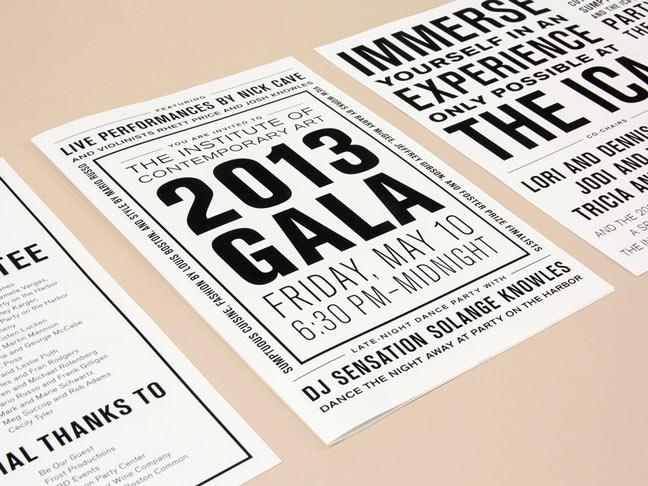 ICA Gala Invitation and Program Guide