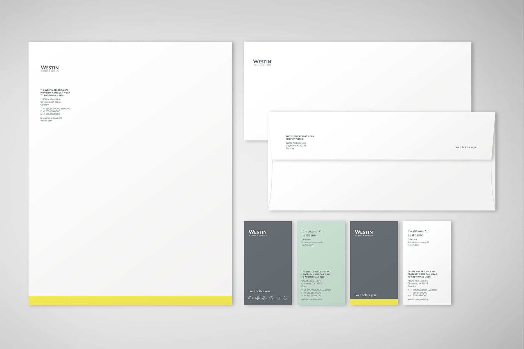 A Print Collateral System That Was Designed For The Westin Hotels Resorts Brand Refresh